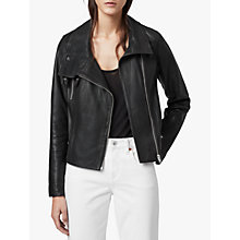 Buy AllSaints Bales Biker Jacket, Black Online at johnlewis.com