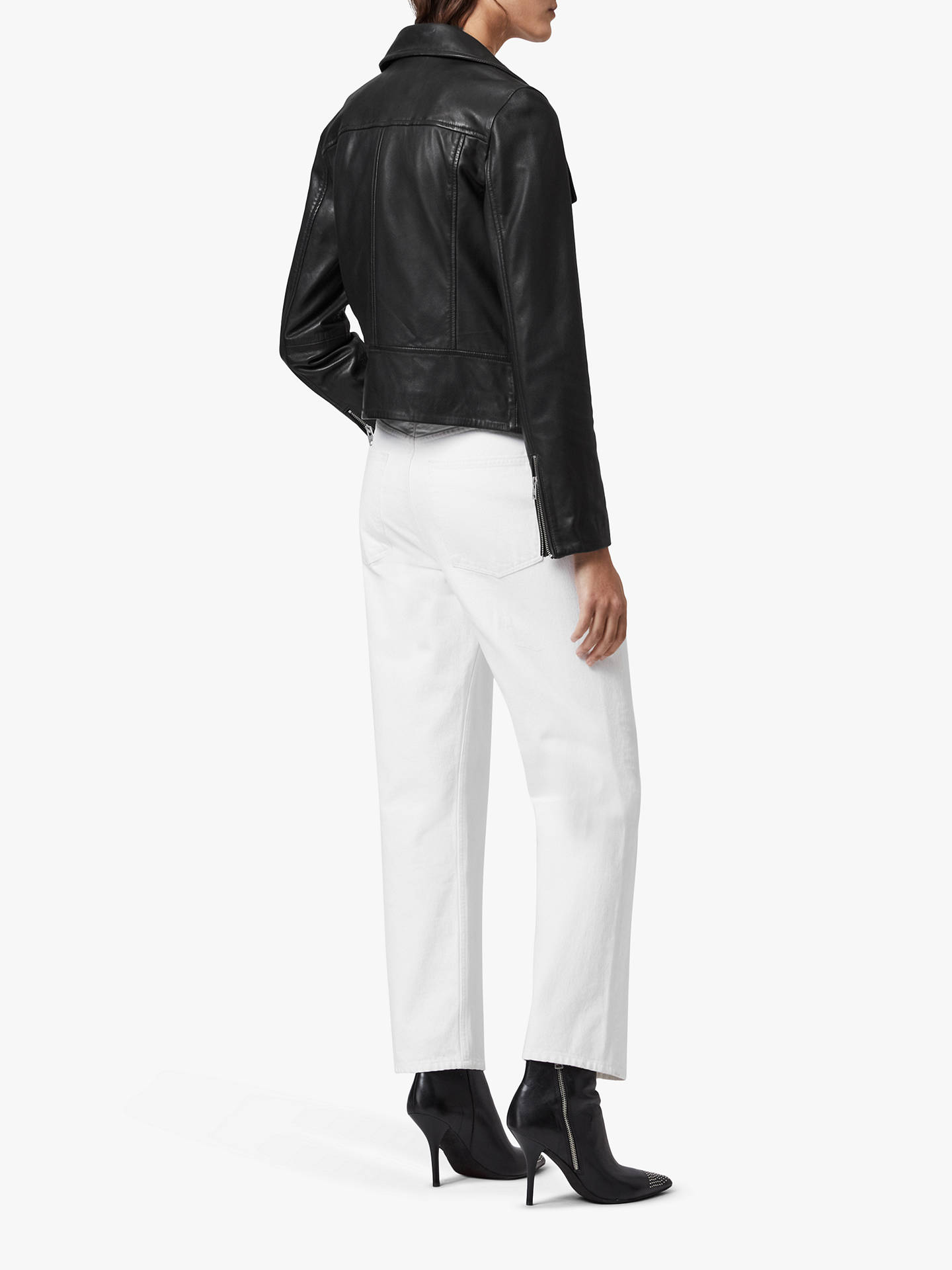 Buy AllSaints Bales Biker Jacket, Black, 6 Online at johnlewis.com