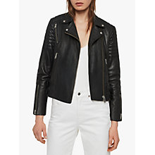Buy AllSaints Papin Biker Jacket, Black Online at johnlewis.com