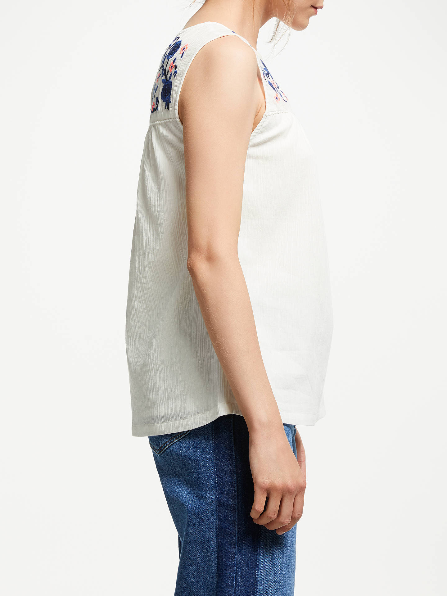 Buy Boden Portia Embroidered Top, Ivory, 8 Online at johnlewis.com