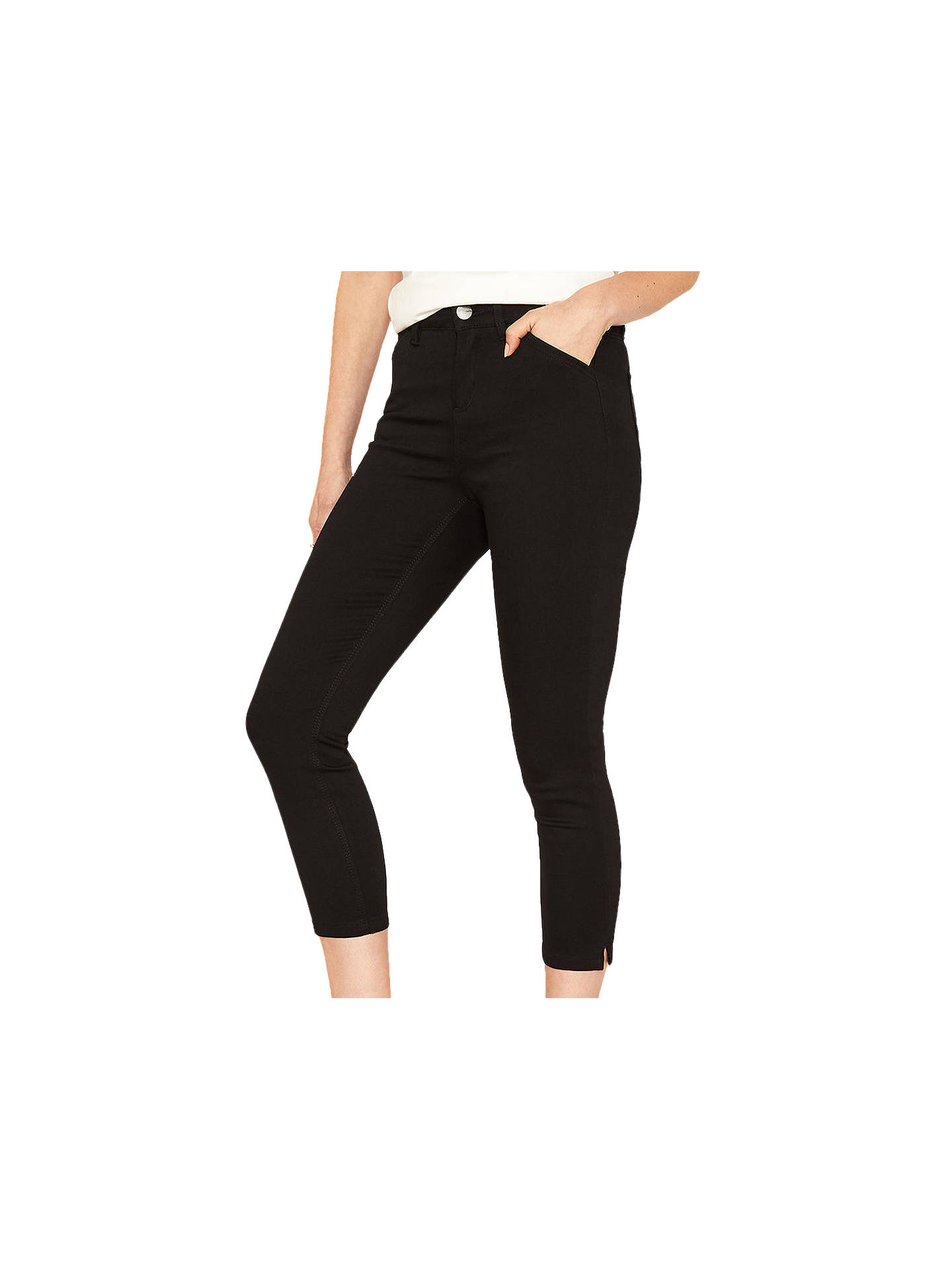 530c2cff7092 Buy Oasis High Waisted Grace Capri Jeans, Black, 6 Online at johnlewis.com  ...