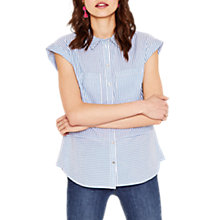 Buy Oasis Stripe Cut About Shirt, Blue Online at johnlewis.com