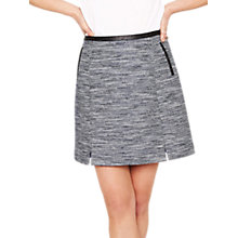 Buy Oasis Spring Tweed Mini Skirt, Multi/Blue Online at johnlewis.com