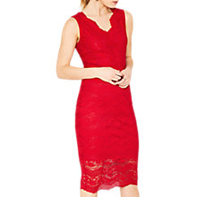 Buy Oasis Lace Dress, Mid Red Online at johnlewis.com