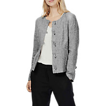 Buy Brora Slub Stripe Linen Jacket, Coal/White Online at johnlewis.com