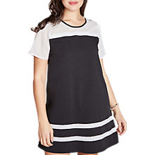 Buy Yumi Curves Tunic Lace Dress, Black/White Online at johnlewis.com