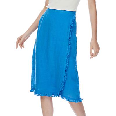 Brora Gauzy Linen Ruffle Skirt
