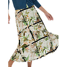 Buy Brora Kew Garden Skirt, Parakeet/Ivory Online at johnlewis.com