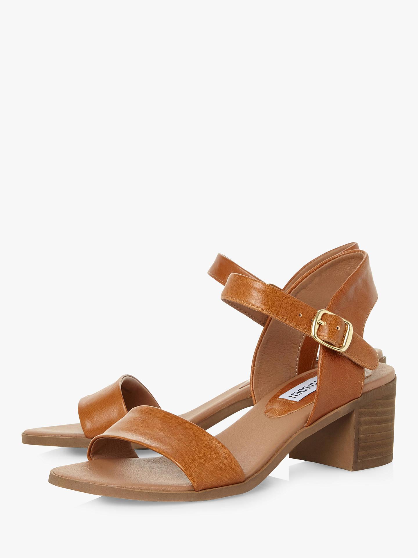 b27cfdc33922 Steve Madden April Leather Heeled Sandals at John Lewis   Partners