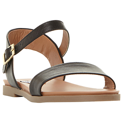 Steve Madden Dina Double Strap Flat Sandals, Black
