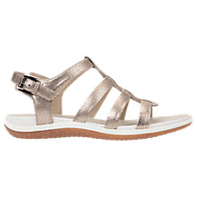 Buy Geox Vega Flat Open Toe Sandals, Bronze Online at johnlewis.com