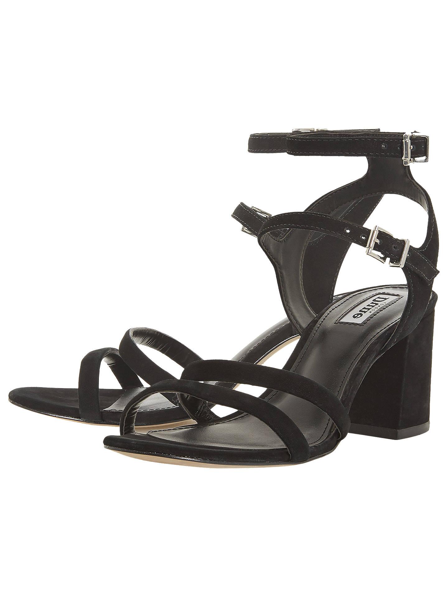 1ff989ef09 ... Buy Dune Magner Block Heel Sandals, Black Leather, 3 Online at  johnlewis.com ...