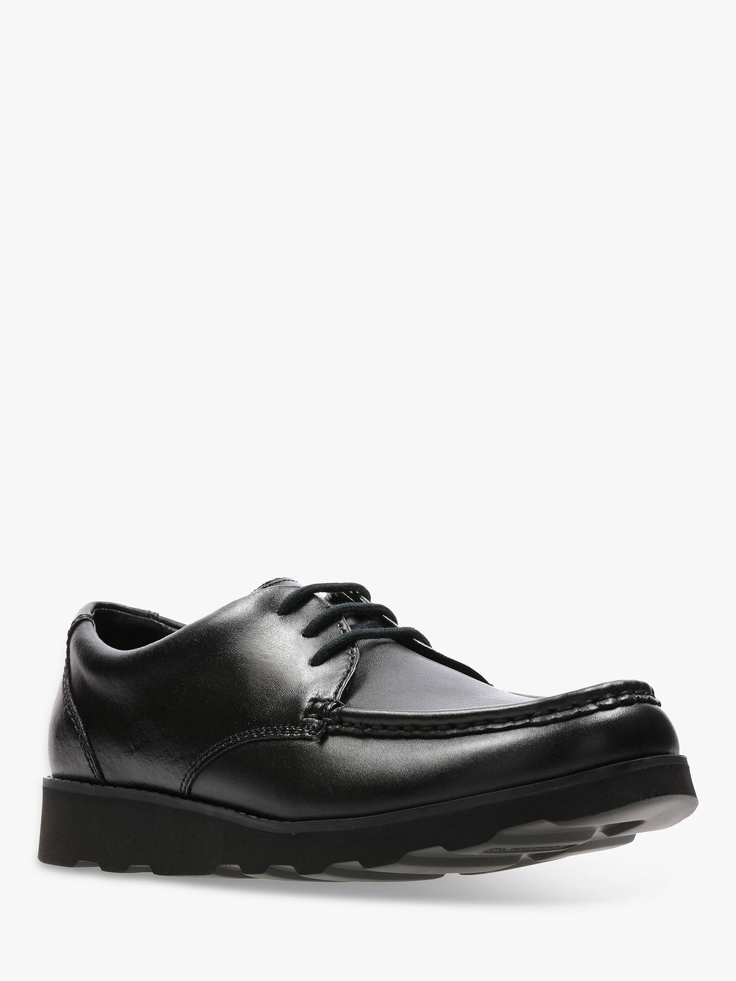 e03309fa153 Buy Clarks Children's Crown Tate Leather Shoes, Black, 3F Online at  johnlewis. ...