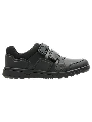 Clarks Children's Blake Street Leather School Shoes, Black