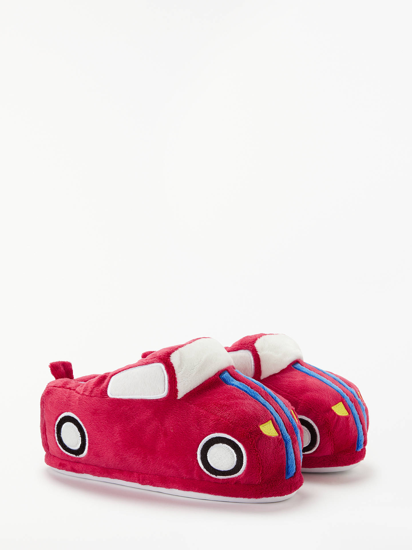 Buy John Lewis & Partners Children's Car Closed Back Slippers, Red, 6 Jnr Online at johnlewis.com
