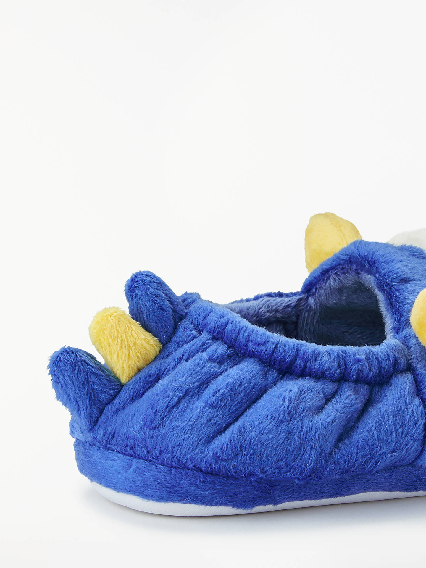 BuyJohn Lewis & Partners Children's Monster Closed Back Slippers, Blue, 8 Jnr Online at johnlewis.com