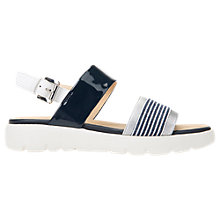 Buy Geox Amalitha Striped Band Flat Sandals, Denim Online at johnlewis.com