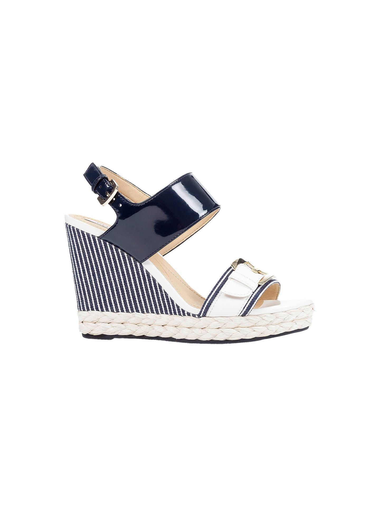 7c62ead9444 Buy Geox Women's Janira Wedge Heeled Sandals, Denim Blue, 3 Online at  johnlewis.