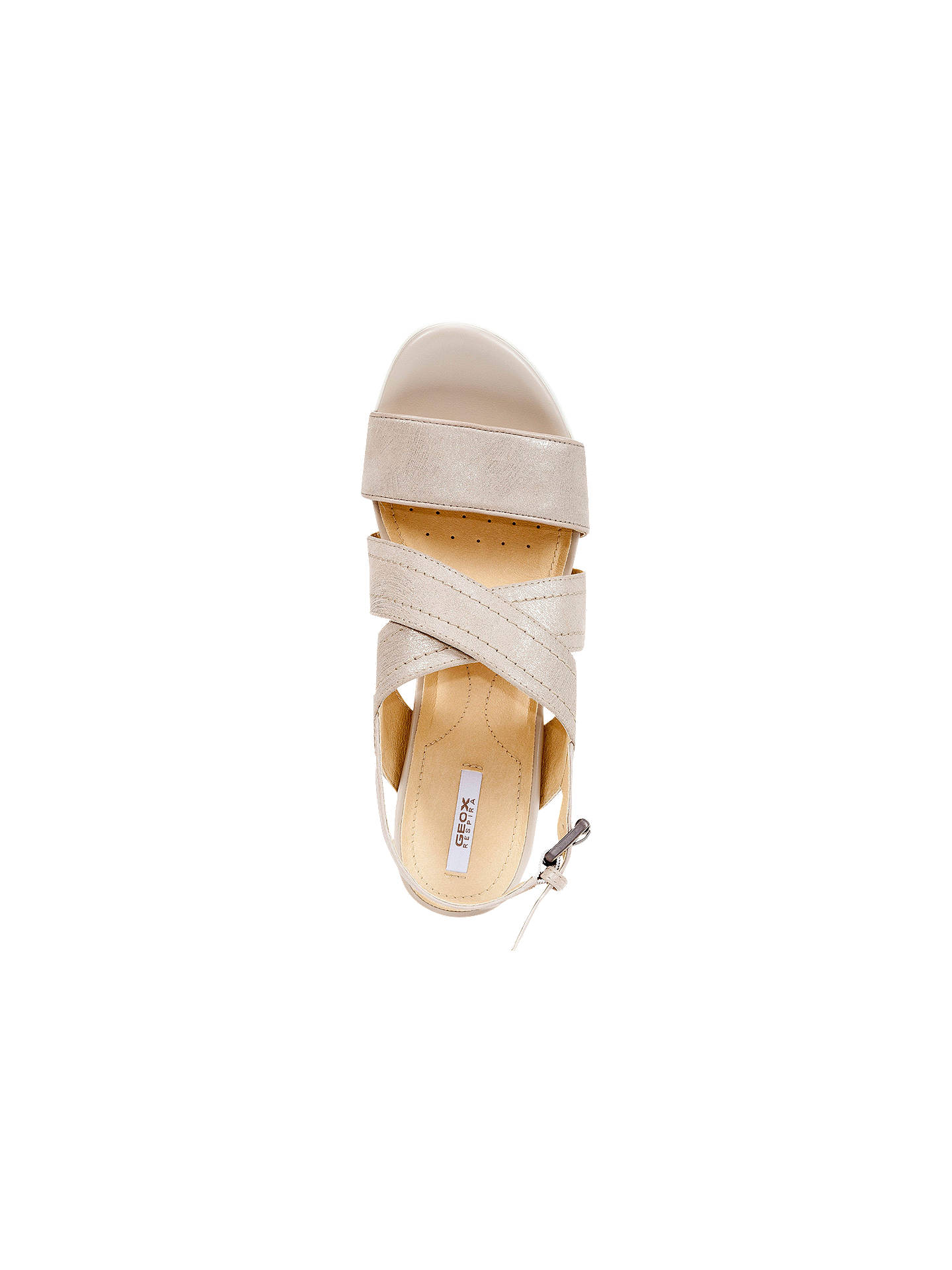 Geox Mary Karmen Cross Strap Wedge Heel Sandals Gold