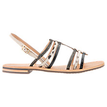 Buy Geox Sozy Contrast Strap Sandals, Black/Multi Online at johnlewis.com