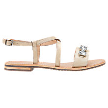 Buy Geox Sozy Embellished Sandals, Cream Online at johnlewis.com