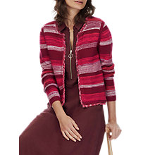Buy Brora Cotton Stripe Jacket, Beetroot/Hibiscus Online at johnlewis.com