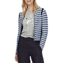 Buy Brora Textured Cotton Jacket, Navy Online at johnlewis.com