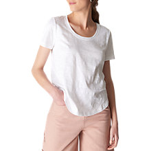 Buy Whistles Sophie Scoop Neck T-Shirt, White Online at johnlewis.com