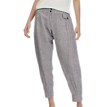 Buy Brora Slub Linen Trousers, Coal/White Online at johnlewis.com
