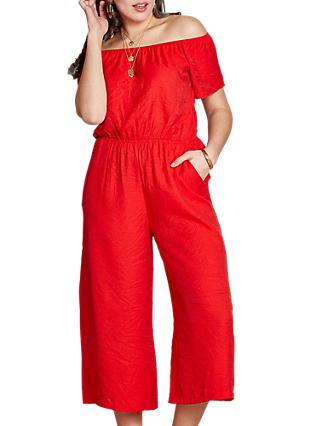 6ee3f73b758 Yumi Curves Off the Shoulder Culotte Jumpsuit