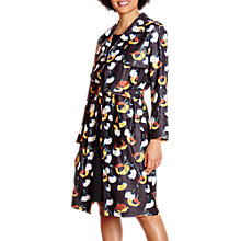 Buy Yumi Floral Woven Trench Coat, Black Online at johnlewis.com