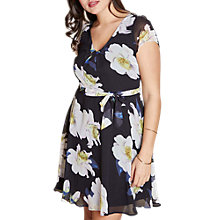 Buy Yumi Curves Floral Print Skater Dress, Multi Online at johnlewis.com