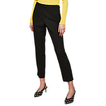 Buy Miss Selfridge Split Cigarette Trousers, Black Online at johnlewis.com