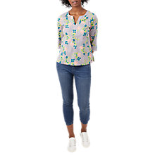 Buy White Stuff Lisbeth Floral Top, Grey/Multi Online at johnlewis.com
