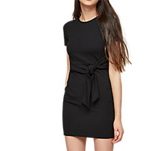 Buy Miss Selfridge Petite Jersey Tie Bodycon Dress, Black Online at johnlewis.com