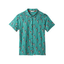 Buy White Stuff Memon Print Polo Jersey T-shirt, Garden Green Online at johnlewis.com