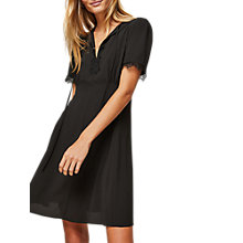 Buy Miss Selfridge Lace Tea Dress, Black Online at johnlewis.com