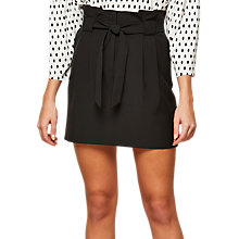 Buy Miss Selfridge Paper Bag Skirt, Black Online at johnlewis.com