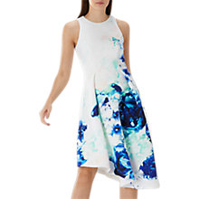 Buy Coast Petite Scuba Midi Dress, Blue/White Online at johnlewis.com