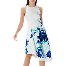 Buy Coast Scuba Midi Dress, Blue/White Online at johnlewis.com