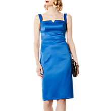 Buy Karen Millen Satin Dress, Blue Online at johnlewis.com
