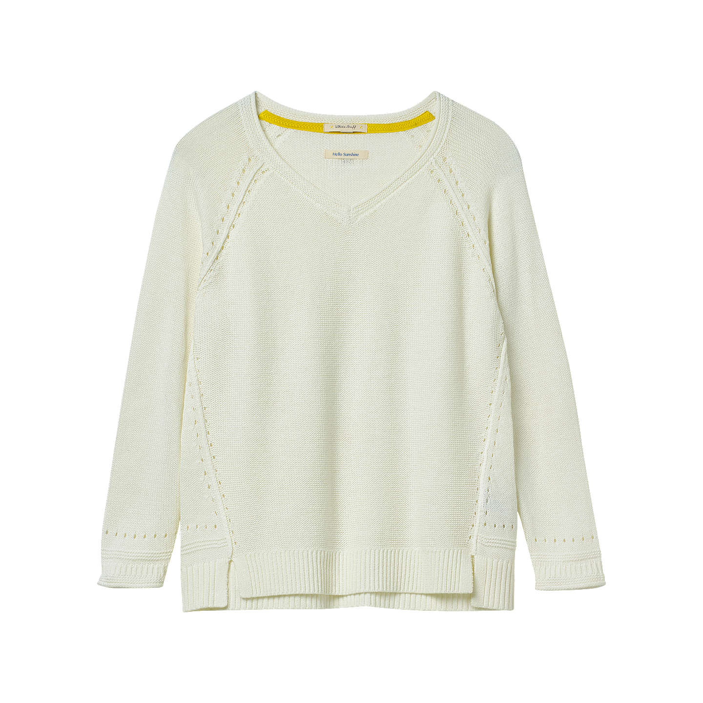 BuyWhite Stuff Hessian Long Sleeve Jumper, Magnolia Cream, 6 Online at johnlewis.com