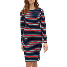 Buy Jaeger Breton Stripe Dress, Navy/Multi Online at johnlewis.com