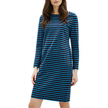 Buy Jaeger Essential Breton Dress, Navy/Bright Online at johnlewis.com