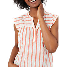 Buy White Stuff Coastal Striped Vest Top, Tangerine Orange Online at johnlewis.com