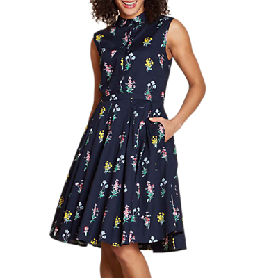 Yumi Botanical Bouquet Shirt Dress, Navy