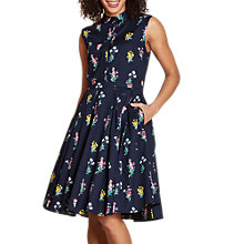 Buy Yumi Botanical Bouquet Shirt Dress, Navy Online at johnlewis.com