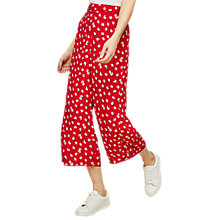 Buy Miss Selfridge Floral Print Crop Wide Leg Trousers, Red Online at johnlewis.com