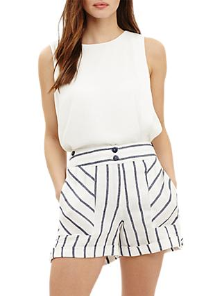 Phase Eight Imie Stripe Shorts, White/Multi