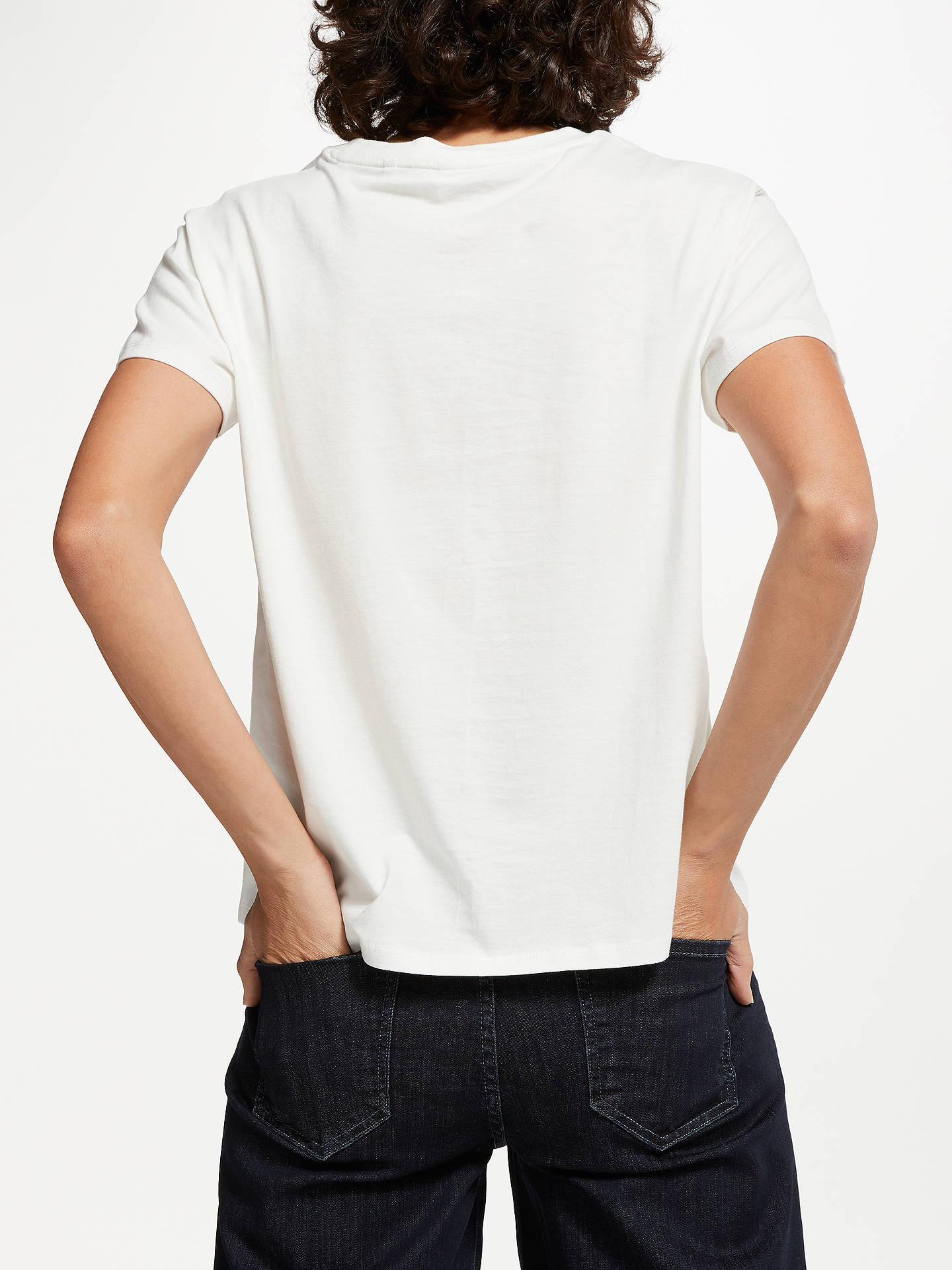 BuyAND/OR Foil Print Slogan T-Shirt, Ivory, 8 Online at johnlewis.com